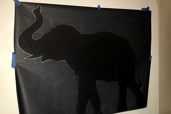 silhouette for large VBS decorations
